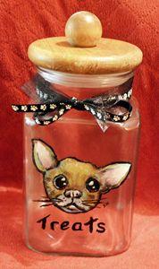 Chihuahua Treats Jar / Canister - Sandra Hagan