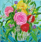 Roses and Iris
