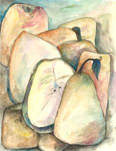 watercolour pears