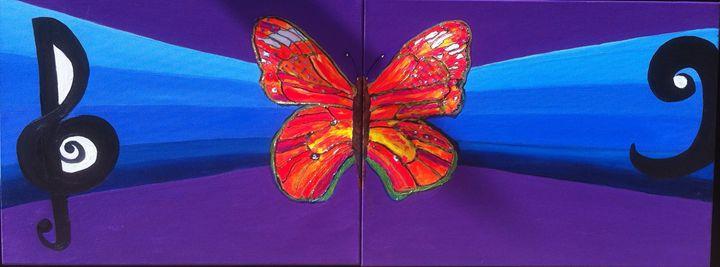 Treble and Bass Butterfly - Jo's Art Gallery