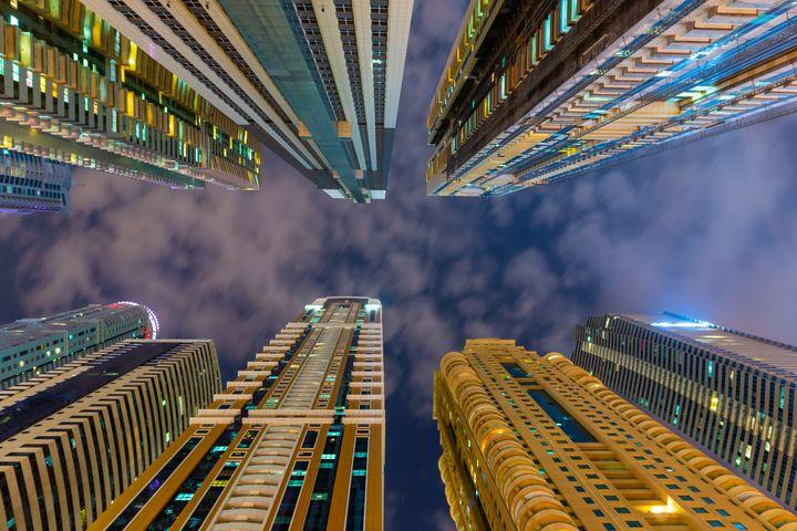 Below view on the luxury modern skys - Igor Shaposhnikov