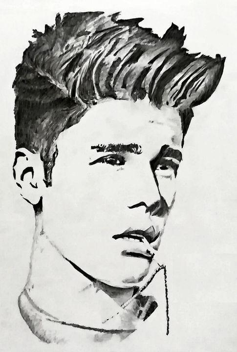 Potrait of Justin Bieber - Mushkan Saha