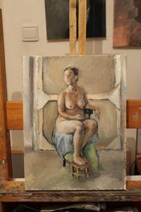 Female Nude In The Studio