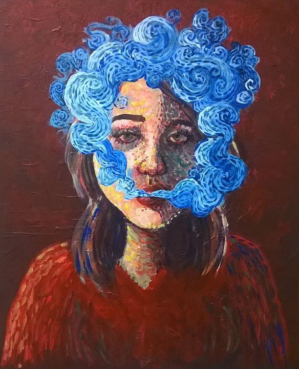 Self-portrait - Smoke - Haleigh Hobbs