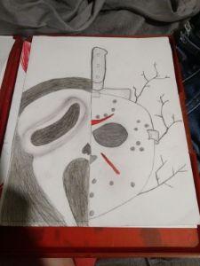 Scary movies drawing - Humble