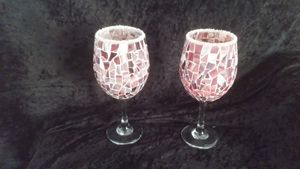Stained glass candle holders - COUNTRY RHODES MOSAIC