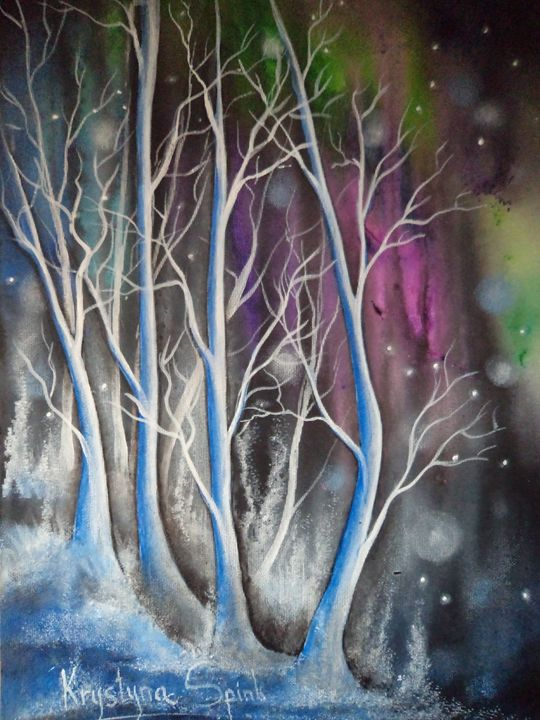 Wondering Blue Trees - Krystyna Spink