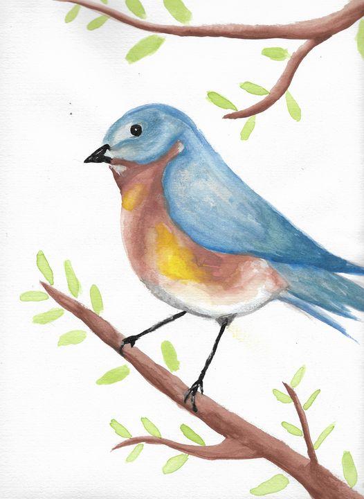 Simple Bluebird - Chelsey Mosher Art