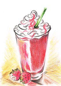 Strawberries and Cream - Teresa white Delightful Art