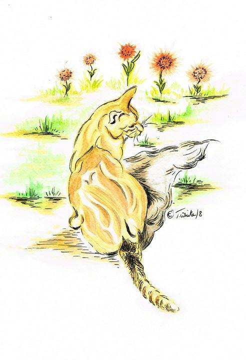 Ginger Cat - Teresa white Delightful Art
