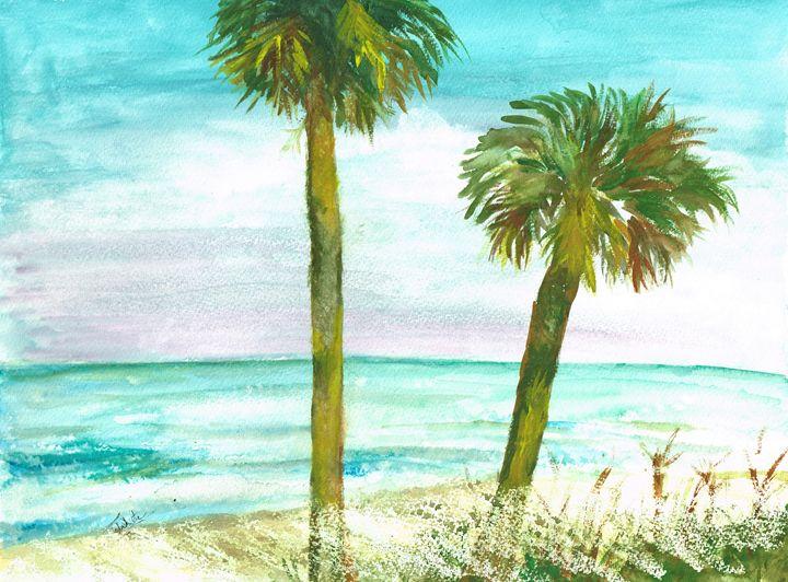 Deserted Island - Teresa white Delightful Art