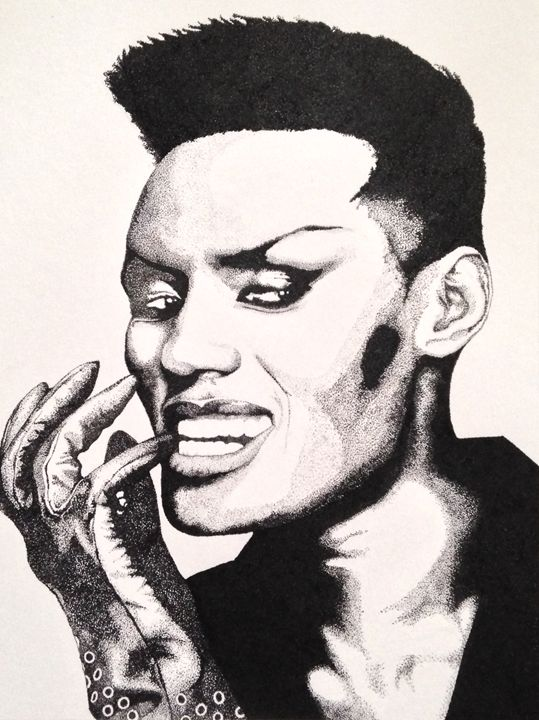 Grace Jones - Jam Jar Portraits