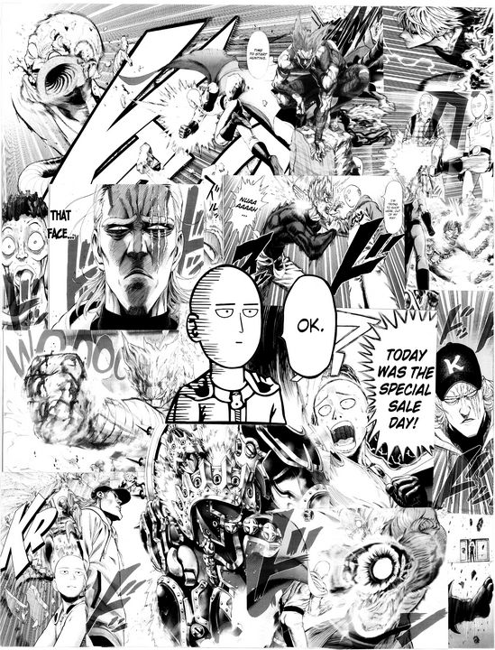 One Punch Man Manga Collage - Anime Collage Store