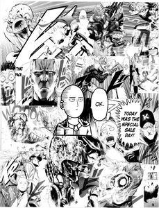 One Punch Man Manga Collage