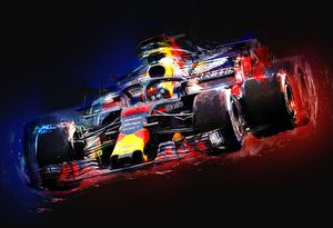 Electrifying Max - Motorsport Art