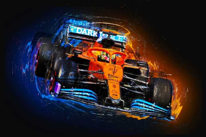 Electric Lando - Motorsport Art