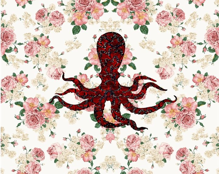 Octopus floral - Daddydecor