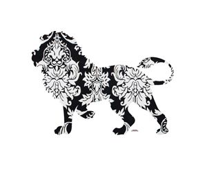 Lion Damask - Daddydecor