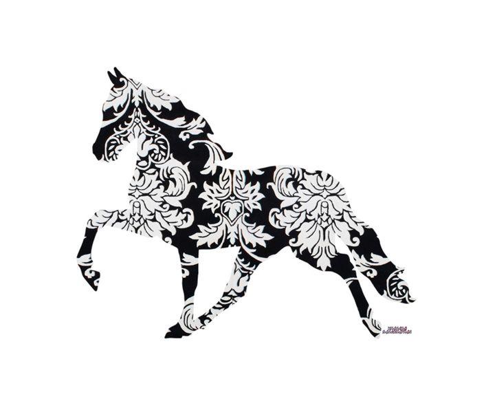 Horse Damask - Daddydecor
