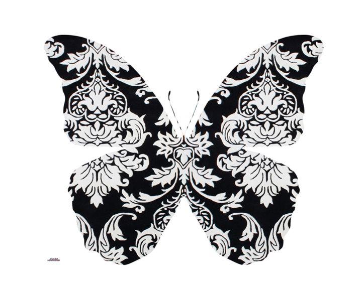 Butterfly Damask - Daddydecor