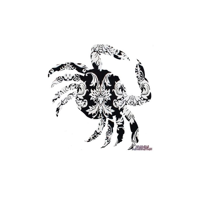 Crab Damask - Daddydecor