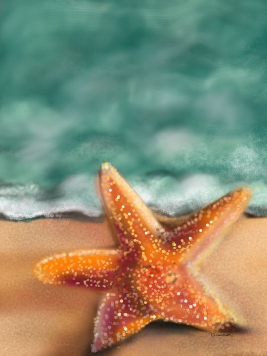 Tranquility starfish - Christine Fournier Artist