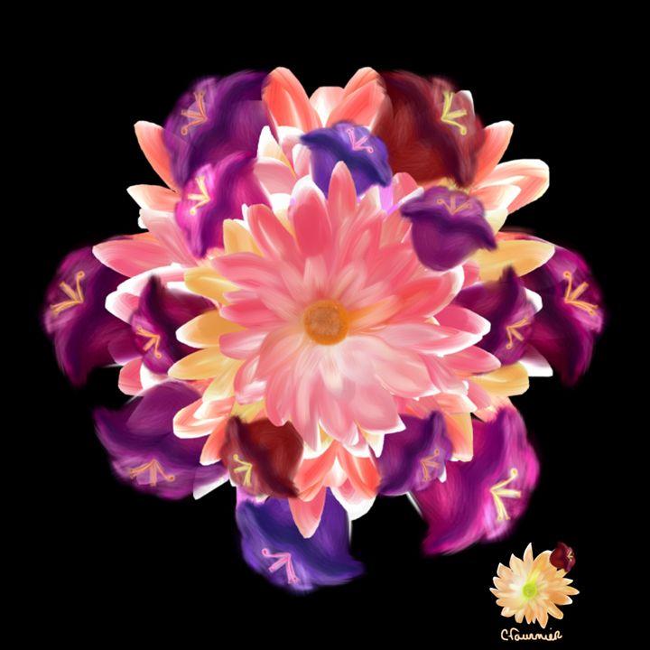 Flower Circle - Christine Fournier Artist