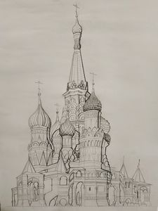 Saint Basil's Cathedral study