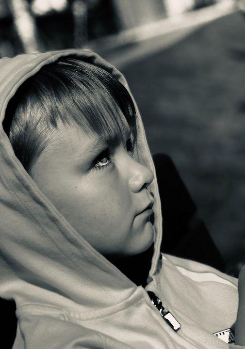 Young Kayden (side portrait) - Brad james tyrrell