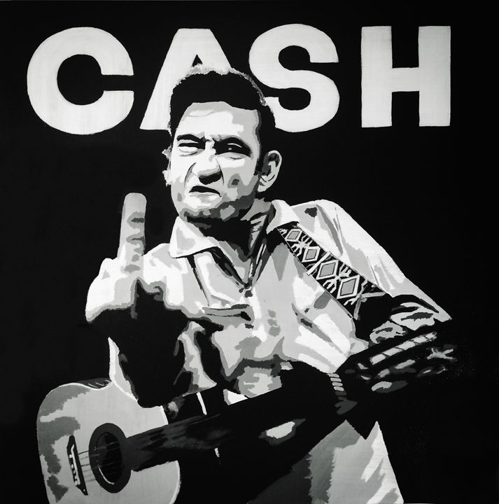 Johnny Cash - Jeff Bourret Pop Art