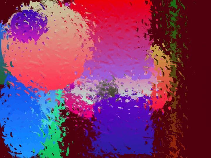 Abstract Raindrops On A Window - #CALARTNZ