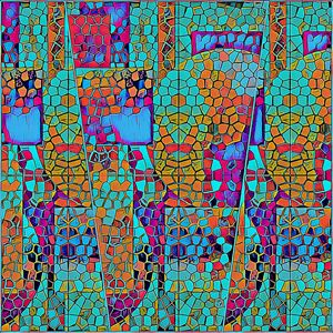 Beautiful Triptych Mosaic in Jade