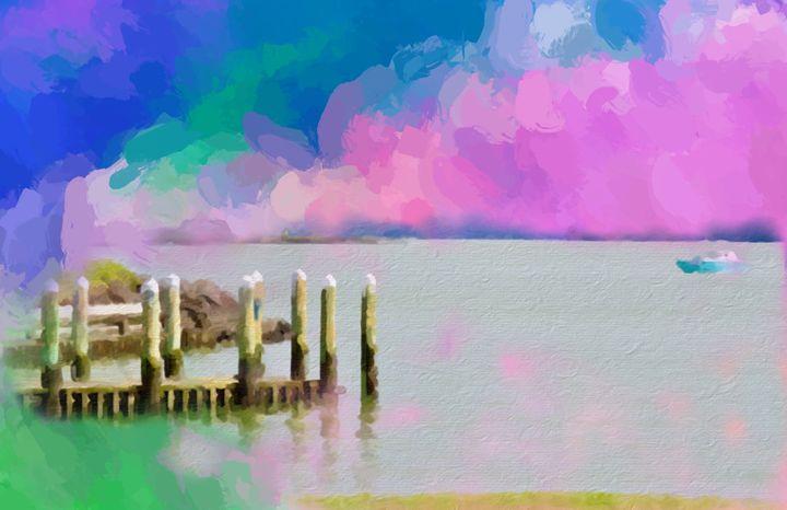 Candy Floss Clouds Over The Manukau - #CALARTNZ