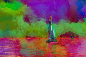 Calm Sailing Under An Aurora