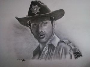 Rick Grimes Walking Dead Fan art