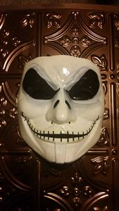 Hand Painted Jack Skellington Mask