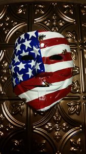 "Hand Painted ""Tattered America"" Mask"