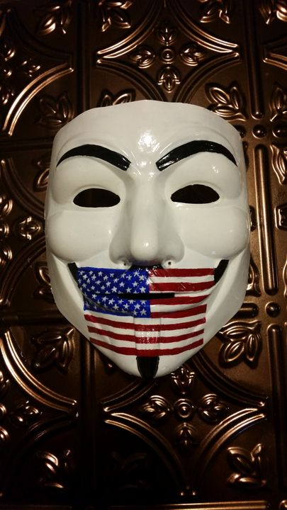 Hand Painted Silenced America Mask - Nikki Curran Creations