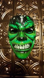 Hand Painted Hulk Fan Art Mask