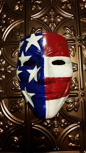 Hand Painted American Flag Mask