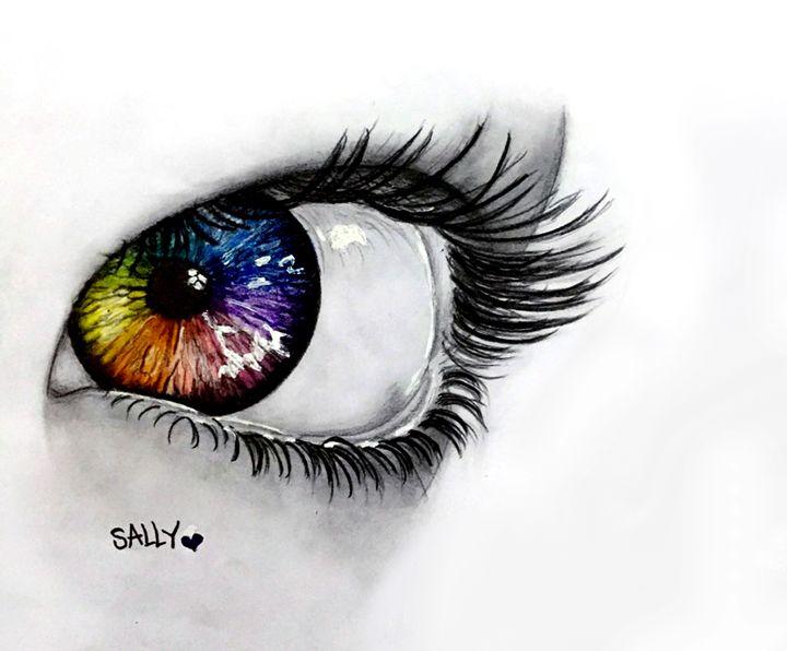 colorful eye - sally