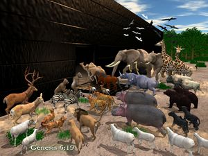 Animals Entering Noah's Ark - CanonQuest