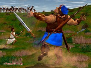 David Defeats Goliath - CanonQuest