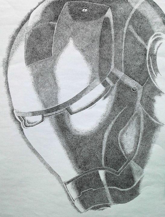 Ironman - monochrome - Angel Art