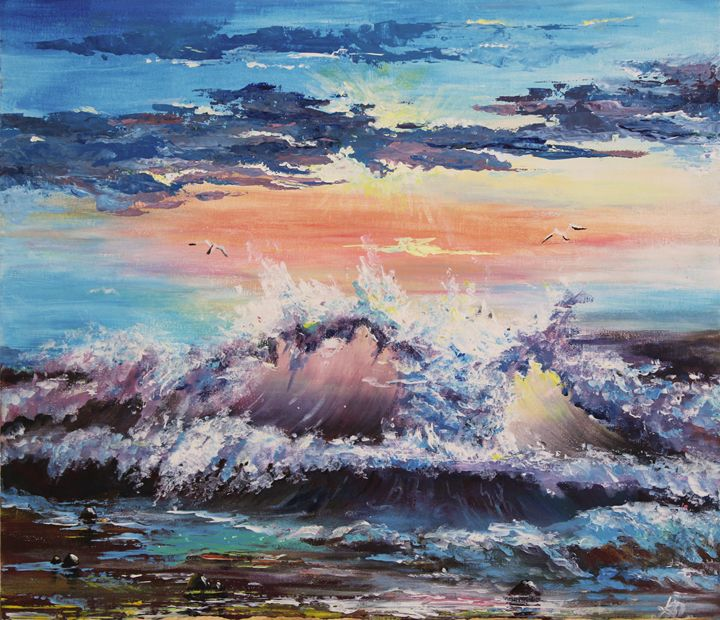 Wave in sunshine - Alexandra Bushanskaya