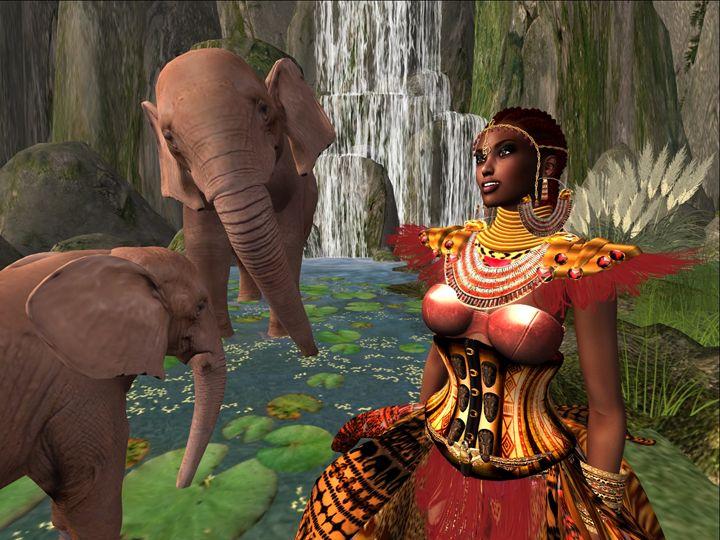 Lady Ndolovu of Elephants - Xanet Calbet