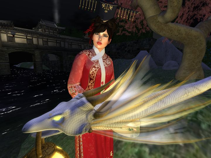 Lady with Rising Dragon - Xanet Calbet