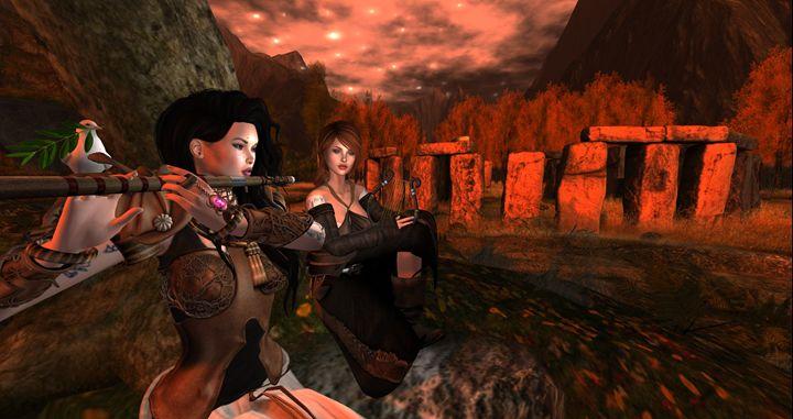 Musicians of Stonehenge - Xanet Calbet