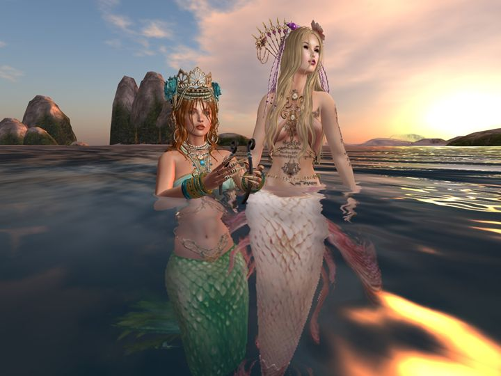 Sirens by the rocks - Xanet Calbet