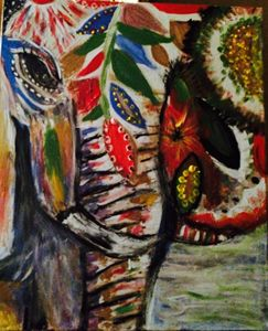 Gypsy Elephant Painting.